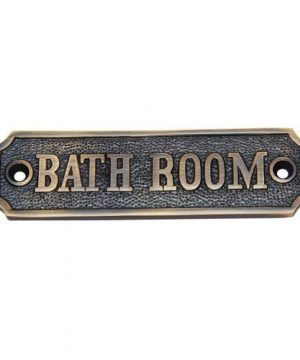 Adonai Hardware Bathroom Brass Door Sign Antique Brass 0 300x360