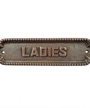 Adonai Hardware Large Ladies Brass Door Sign Antique Copper 0 0 300x360