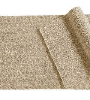 AmazonBasics Everyday Cotton Bath Rug Set 17 X 24 And 20 X 34 Taupe 0 300x333