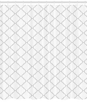 Ambesonne Grey Shower Curtain Simple Monochrome Patterns Geometric Linked Forms On Plain Background Modern Cloth Fabric Bathroom Decor Set With Hooks 84 Long Extra White Gray 0 0 300x360
