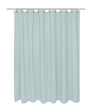 American Crafts Waffle Weave 100 Cotton Shower Curtain 72 X 72 Spa Blue 0 300x360