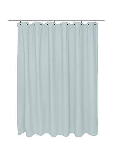 American Crafts Waffle Weave 100 Cotton Shower Curtain 72 X 72 Spa Blue 0