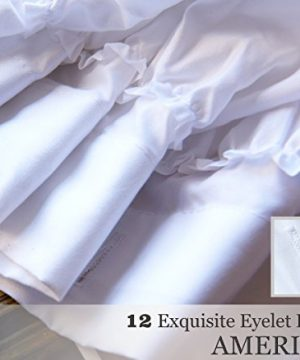 Ameritex Ruffle Shower Curtain Home Decor Soft Polyester Decorative Bathroom Accessories Great For Showers Bathtubs White72 X 72 0 2 300x360