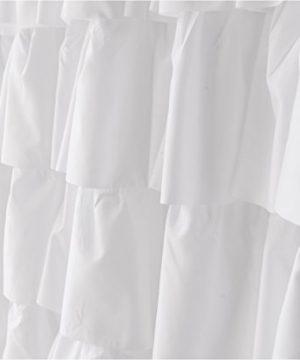 Ameritex Ruffle Shower Curtain Home Decor Soft Polyester Decorative Bathroom Accessories Great For Showers Bathtubs White72 X 72 0 3 300x360