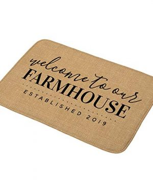 Aremetop Warm Quotes Bath Mat Home Sweet Home Family Love Lettering Flannel Absorbent Doormat Non Slip Bathroom Rug Kitchen Floor Mat Carpet Size 175x295 Welcome To Our Farmhouse 0 300x360