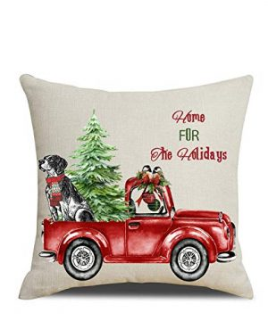 Artmag 18x18 Christmas Throw Pillow Covers Decorative Outdoor Farmhouse Merry Christmas Xmas Christmas Tree Pillow Shams Cases Slipcovers Set Of 4 For Couch Sofa 0 0 300x360