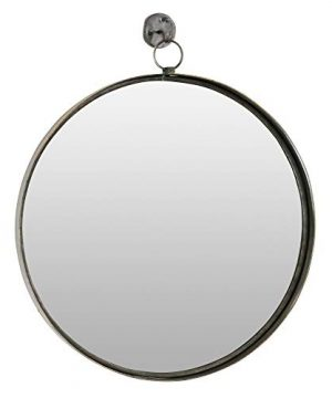 Aspire Bescott Suspended Round Wall Mirror Brown 0 300x360