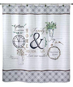 Avanti Linens Modern Farmhouse Shower Curtain 0 300x360
