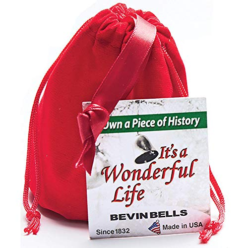 BEVIN BELLS Its A Wonderful Life Christmas Bell Authentic Silver Plated Ornament 0 0