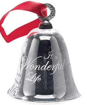 BEVIN BELLS Its A Wonderful Life Christmas Bell Authentic Silver Plated Ornament 0 300x360