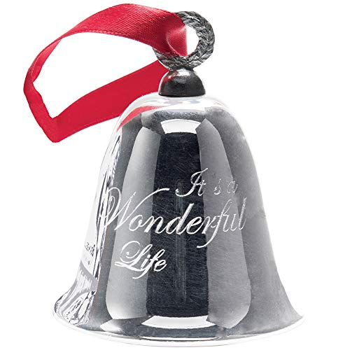 BEVIN BELLS Its A Wonderful Life Christmas Bell Authentic Silver Plated Ornament 0