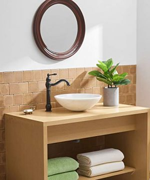 BWE Single Hole Lever Bathroom Vessel Sink Faucet With Matching Pop Up Drain Without Overflow Oil Rubbed Bronze ORB Commercial 0 1 300x360