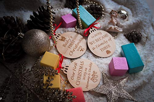 Babys First Christmas Ornaments Set Of 3 0 1
