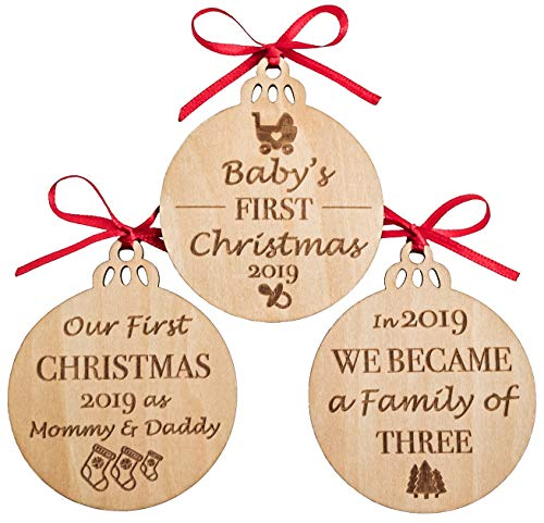 Babys First Christmas Ornaments Set Of 3 0