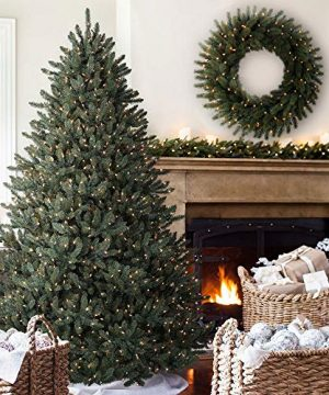 Balsam Hill Classic Blue Spruce Artificial Christmas Tree 45 Feet LED Clear Lights 0 300x360