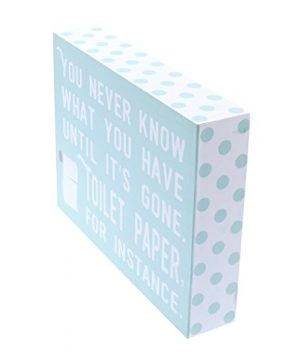 Barnyard Designs You Never Know What You Have Until Its Gone Toilet Paper Humor Box Wall Art Sign Primitive Country Farmhouse Bathroom Home Decor Sign With Sayings 8 X 6 0 1 300x360