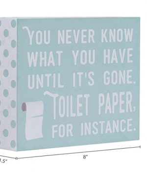 Barnyard Designs You Never Know What You Have Until Its Gone Toilet Paper Humor Box Wall Art Sign Primitive Country Farmhouse Bathroom Home Decor Sign With Sayings 8 X 6 0 2 300x360