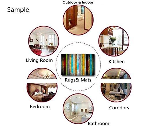 Bath Rugs And Mats Color Striped Non Slip Absorbent Bathroom Mat Kitchen Runner Floor Mat Carpet 1 Piece 20 X 31 Inch 0 4