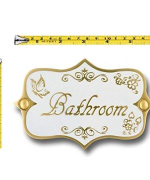 Bathroom Brass Door Sign Vintage Shabby Chic Style Home Dcor Wall Plaque Handmade By The Metal Foundry UK 0 0 300x360