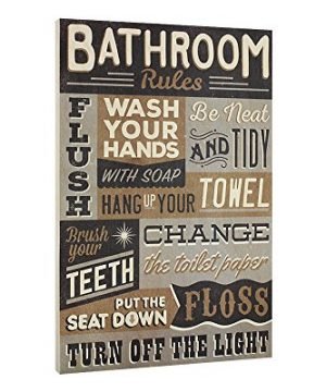 Bathroom-Rules-Wood-Sign-Vintage-or-Kids-Decor-Thick-Plaque-0