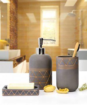Bathroom Set Bathroom Accessories 3 Pieces Bathroom Soap Dispenser Toothbrush Holder Soap Dish Luxury Set For Bathroom Decor And Home Gift 0 0 300x360