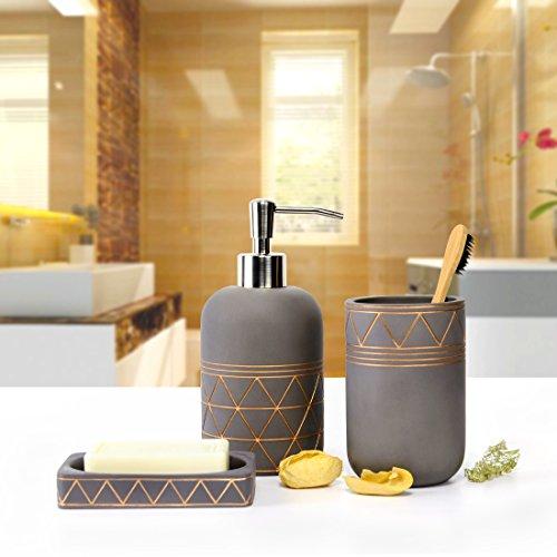 Bathroom Set Bathroom Accessories 3 Pieces Bathroom Soap Dispenser Toothbrush Holder Soap Dish Luxury Set For Bathroom Decor And Home Gift 0 0