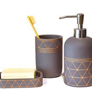 Bathroom Set Bathroom Accessories 3 Pieces Bathroom Soap Dispenser Toothbrush Holder Soap Dish Luxury Set For Bathroom Decor And Home Gift 0 300x360