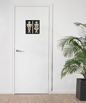 Bathroom Wall Art Funny Wood Sign For Mens And Womens Unisex Door Or Decoration 0 2 300x360
