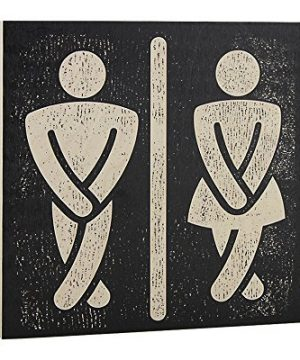 Bathroom Wall Art Funny Wood Sign For Mens And Womens Unisex Door Or Decoration 0 300x360