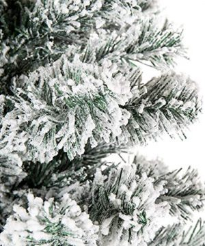 Best Choice Products 6 Foot Snow Flocked Artificial Pencil Christmas Tree Holiday Decoration WMetal Stand Green 0 2 300x360