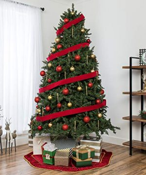 Best Choice Products 75ft Hinged Douglas Full Fir Artificial Christmas Tree Holiday Decoration W 2254 Branch Tips Easy Assembly Foldable Metal Stand Green 0 0 300x360