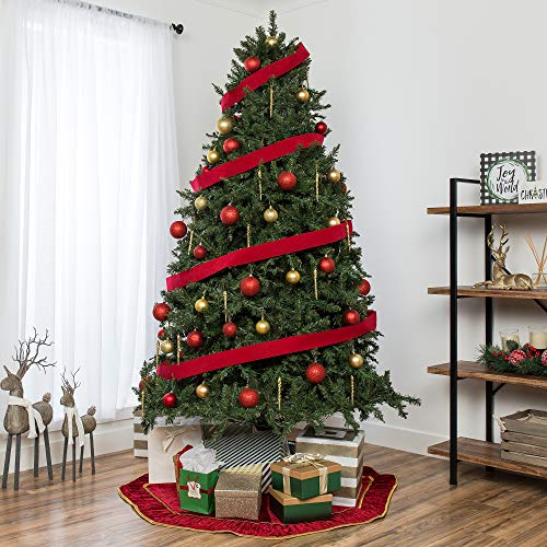 Best Choice Products 75ft Hinged Douglas Full Fir Artificial Christmas Tree Holiday Decoration W 2254 Branch Tips Easy Assembly Foldable Metal Stand Green 0 0