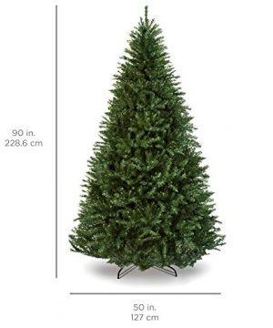 Best Choice Products 75ft Hinged Douglas Full Fir Artificial Christmas Tree Holiday Decoration W 2254 Branch Tips Easy Assembly Foldable Metal Stand Green 0 4 300x360