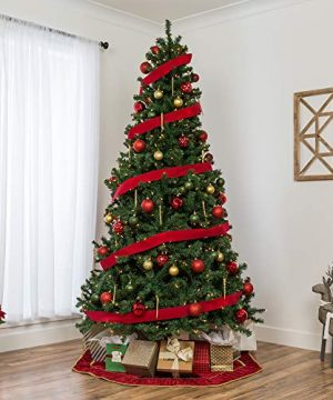 Best Choice Products 75ft Pre Lit Spruce Hinged Artificial Christmas Tree W 550 Incandescent Lights Foldable Stand 0 0 300x360