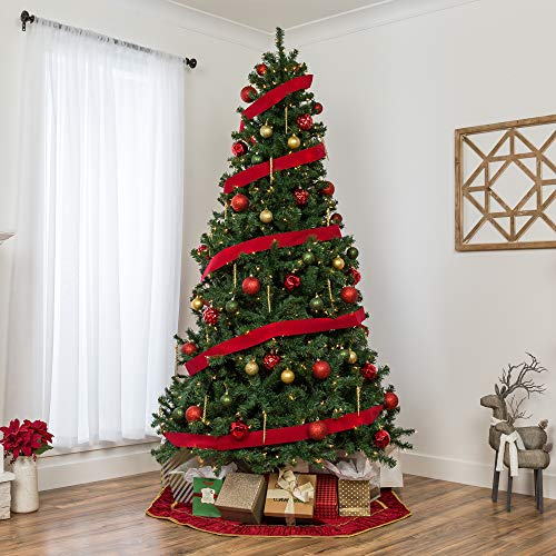 Best Choice Products 75ft Pre Lit Spruce Hinged Artificial Christmas Tree W 550 Incandescent Lights Foldable Stand 0 0