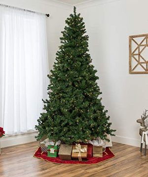 Best Choice Products 75ft Pre Lit Spruce Hinged Artificial Christmas Tree W 550 Incandescent Lights Foldable Stand 0 1 300x360