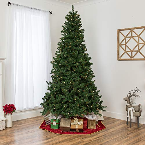 Best Choice Products 75ft Pre Lit Spruce Hinged Artificial Christmas Tree W 550 Incandescent Lights Foldable Stand 0 1