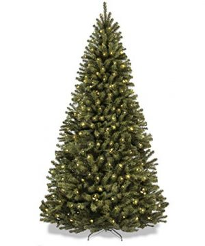 Best Choice Products 75ft Pre Lit Spruce Hinged Artificial Christmas Tree W 550 Incandescent Lights Foldable Stand 0 300x360