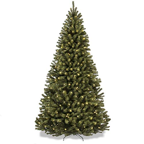 Best Choice Products 75ft Pre Lit Spruce Hinged Artificial Christmas Tree W 550 Incandescent Lights Foldable Stand 0