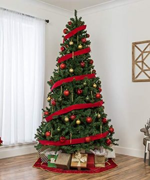 Best Choice Products 75ft Premium Spruce Hinged Artificial Christmas Tree W Easy Assembly Foldable Stand 0 0 300x360