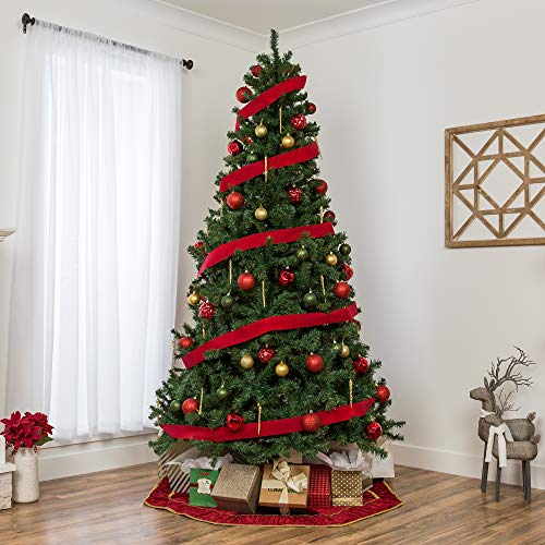 Best Choice Products 75ft Premium Spruce Hinged Artificial Christmas Tree W Easy Assembly Foldable Stand 0 0