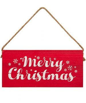 Brownlow Gifts 63410 Christmas Decorative Wooden Sign 65 X 3 Merry 0 300x360