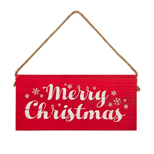 Brownlow Gifts 63410 Christmas Decorative Wooden Sign 65 X 3 Merry 0