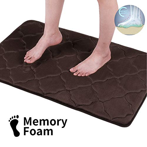Memory Foam 3 PC Bathroom Rug Absorbent Bath Mat Set Small Large and Contour Rug