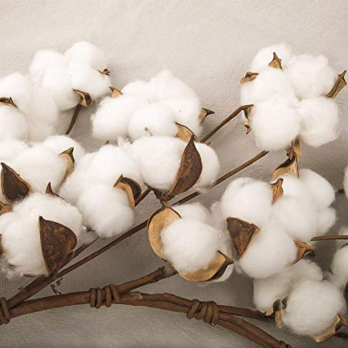 CEWOR 26 Inch Real Cotton Wreath Christmas Vintage Wreath For Front Door Festival Hanging Farmhouse Decor 0 2