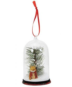 CR Gibson Christmas Snow Globe Ornament Rustic Fox 275 X 5 0 300x360