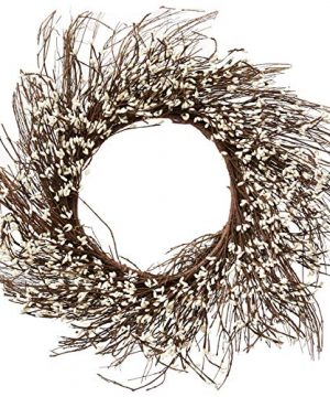 CWI Gifts Pip Berry Twig Wreath 22 Inch IvoryVanilla 0 300x360
