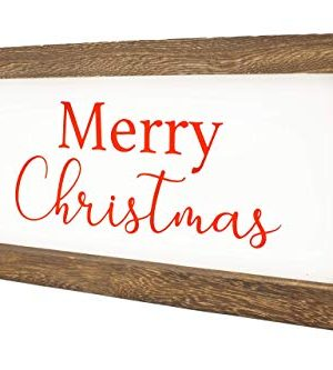 Cam N Honey Reversible Hello FallMerry Christmas Rustic Wood Sign Farmhouse Home Thanksgiving And Holiday Decor 0 1 300x333