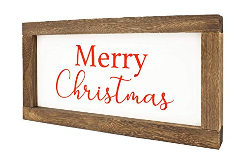 Cam N Honey Reversible Hello FallMerry Christmas Rustic Wood Sign Farmhouse Home Thanksgiving And Holiday Decor 0 1