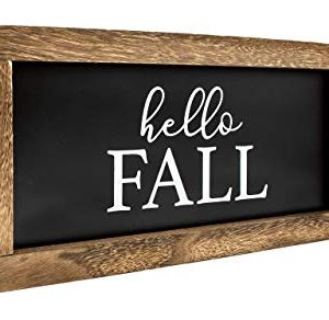 Cam N Honey Reversible Hello FallMerry Christmas Rustic Wood Sign Farmhouse Home Thanksgiving And Holiday Decor 0 2 300x292